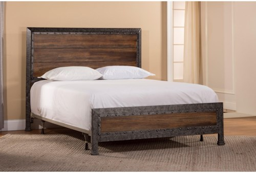 Hillsdale Metal Beds King Mackinac Bed Set with Rails