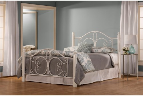Hillsdale Metal Beds King Ruby Wood Post Bed Set with Rails