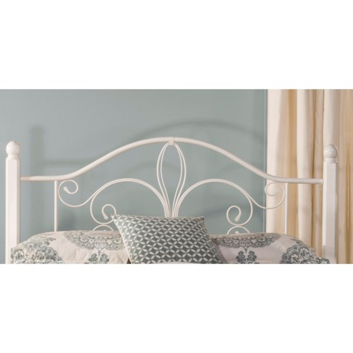 Hillsdale Metal Beds Twin Ruby Wood Post Headboard with Frame