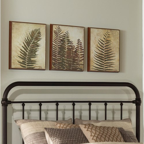 Hillsdale Metal Beds Classic Twin Metal Headboard and Frame