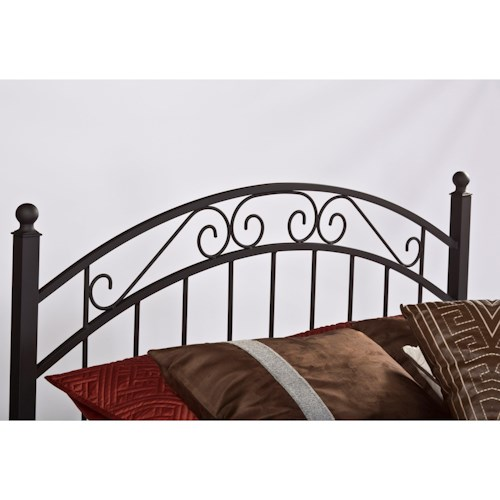 Hillsdale Metal Beds Twin Willow Headboard with Rails