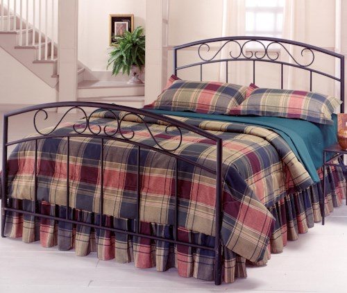 Hillsdale Metal Beds Full Black Wendell Bed