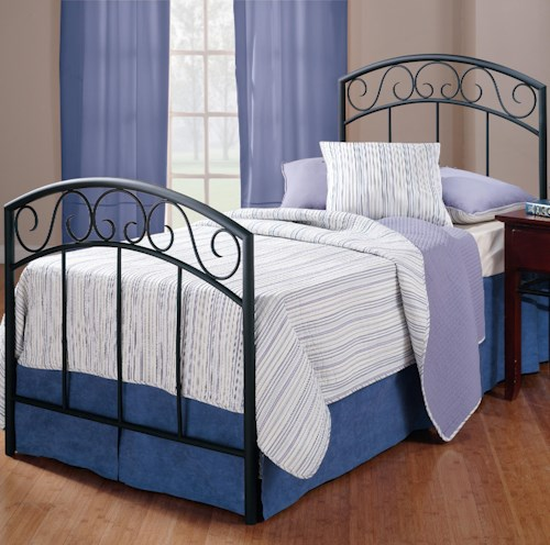 Hillsdale Metal Beds Twin Black Wendell Bed