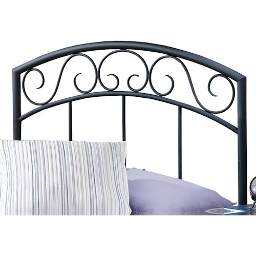 Hillsdale Metal Beds Twin Wendell Headboard with Rails