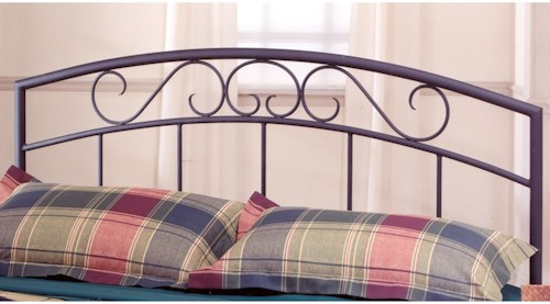 Hillsdale Metal Beds Full/Queen Wendell Headboard with Rails