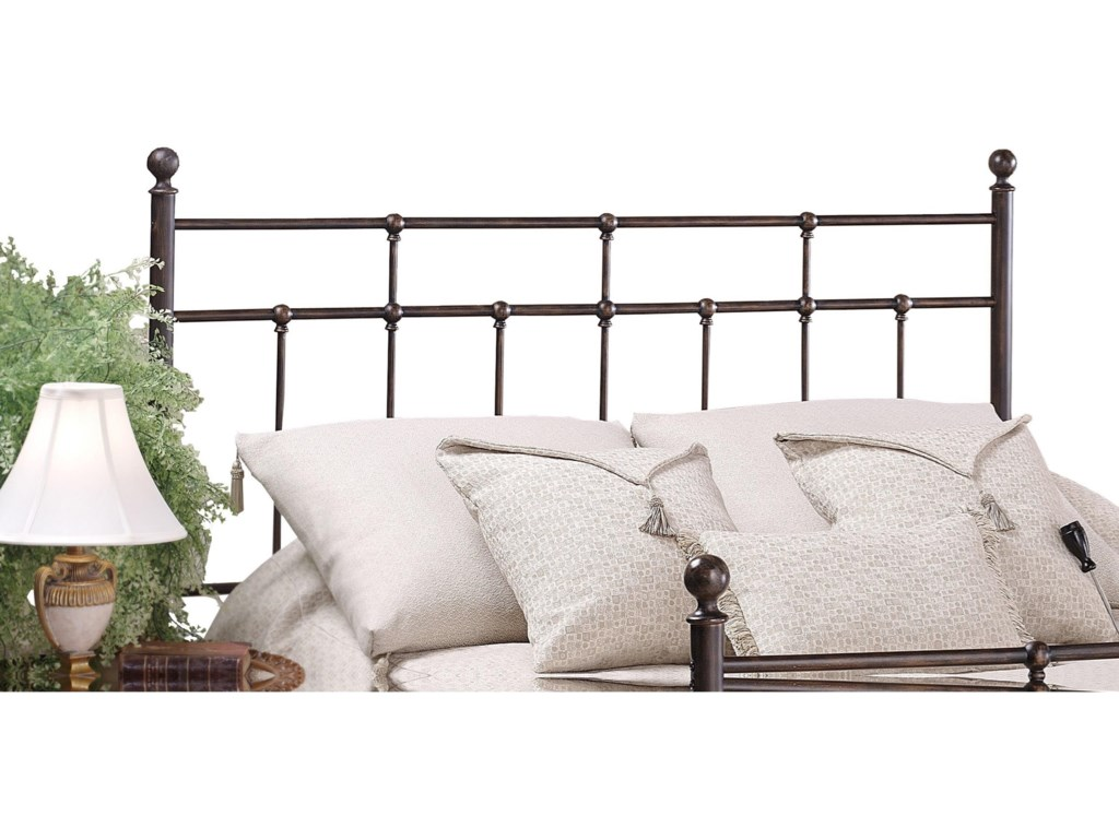 77fcb86fa40ac Hillsdale Metal Beds King Providence Headboard with Rails ...