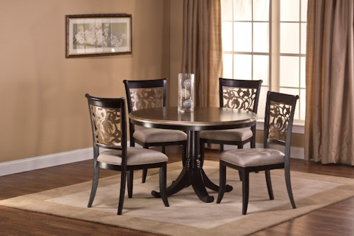 Hillsdale Bennington 5 Piece Dining Set with Elegant Chair Backs