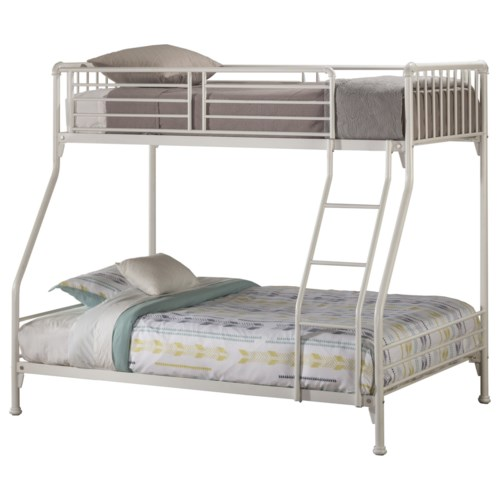 Hillsdale Brandi Simple Metal Twin Full Bunk Bed Godby Home