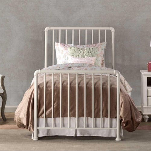 Hillsdale Brandi Simple Metal Twin Bed Set with Frame
