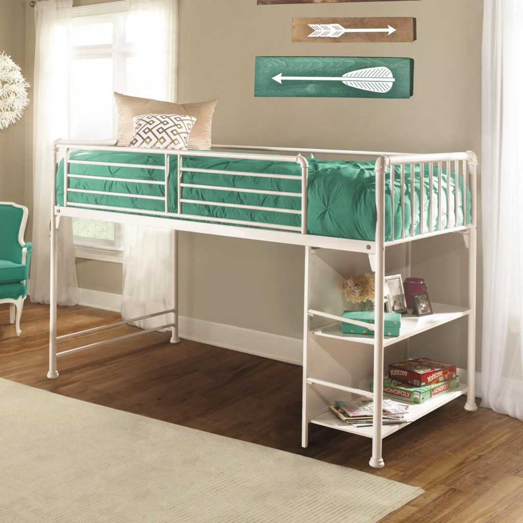 Hillsdale Brandi 2001jrl Metal Twin Junior Loft Bed Dunk Bright