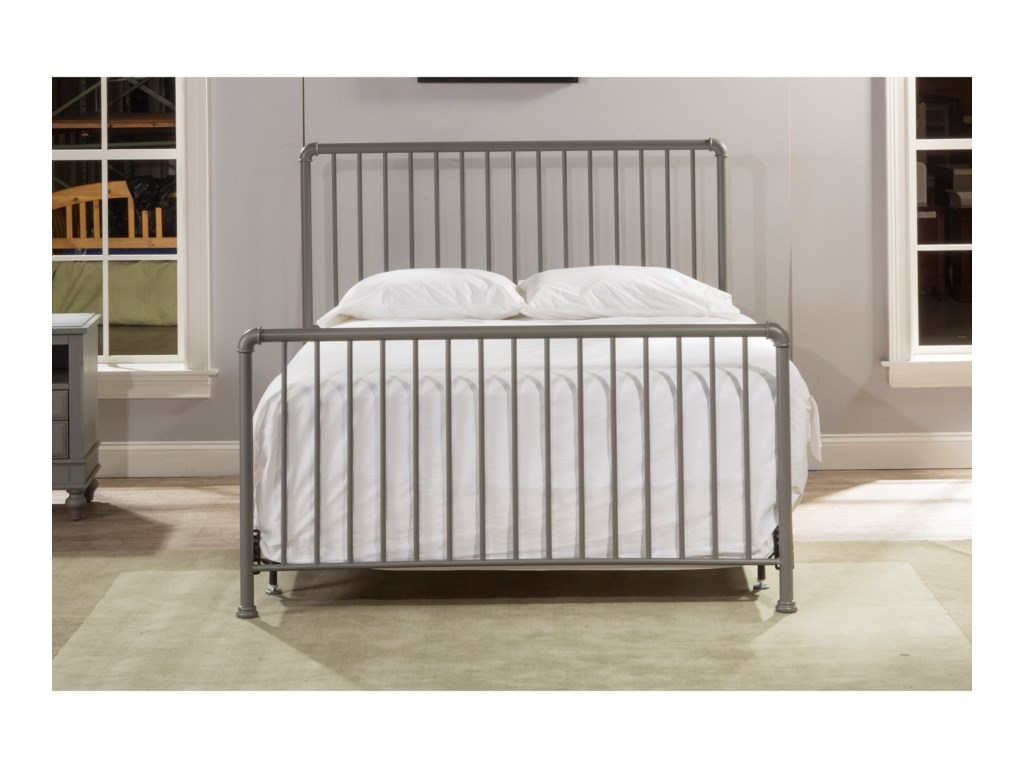 Hillsdale Brandi Simple Metal Full Bed Set with Frame | Aladdin Home ...