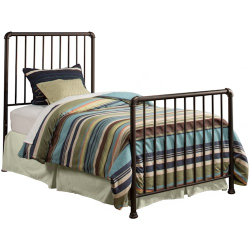 Hillsdale Brandi  Metal Twin Bed Set - Frame not Included