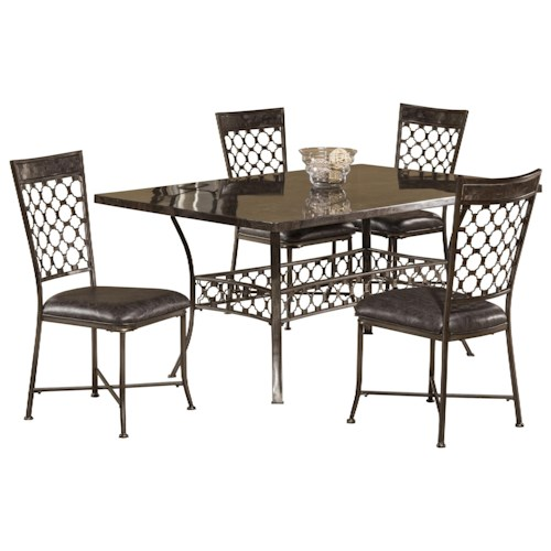 Hillsdale Brescello  5-Piece Rectangle Dining Set with Bluestone Table