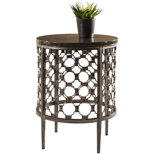 Hillsdale Brescello  Round End Table with Geometric Pattern