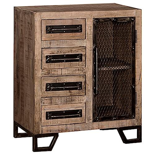 Hillsdale Bridgewater Rustic Cabinet with Chicken Wire Door
