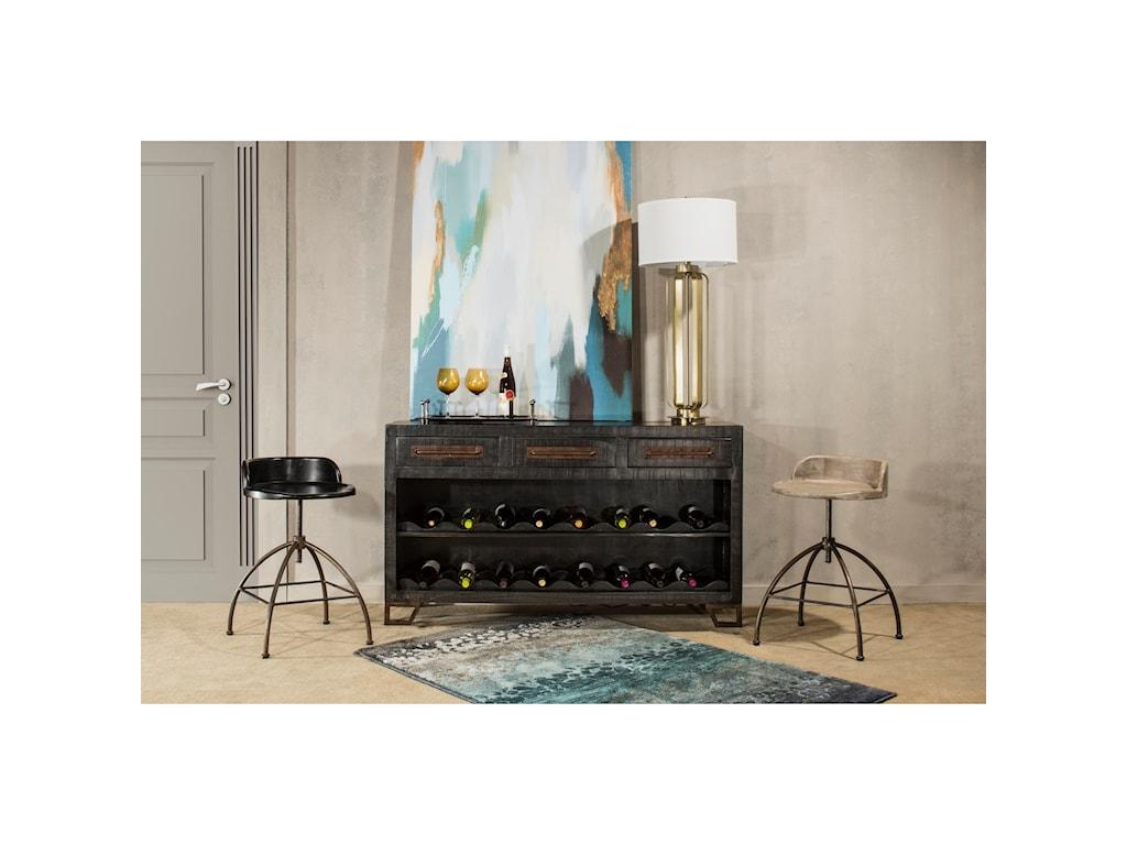 Hillsdale BridgewaterSofa Table with Wine Rack