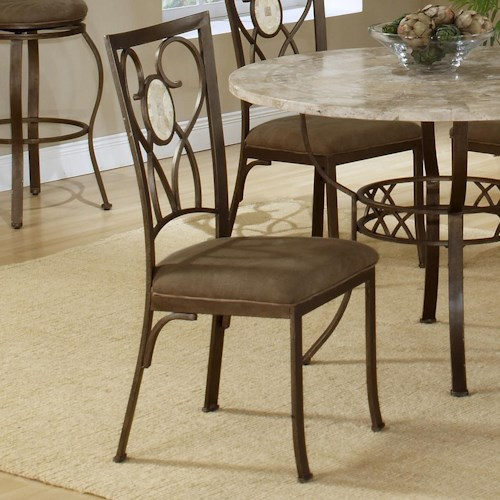 Hillsdale Brookside Oval Fossil Back Dining Chair