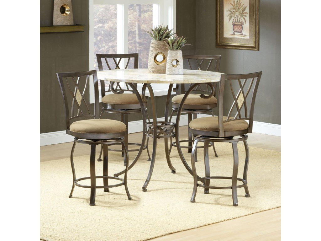 Hillsdale BrooksideFive Piece Counter Height Dining Set