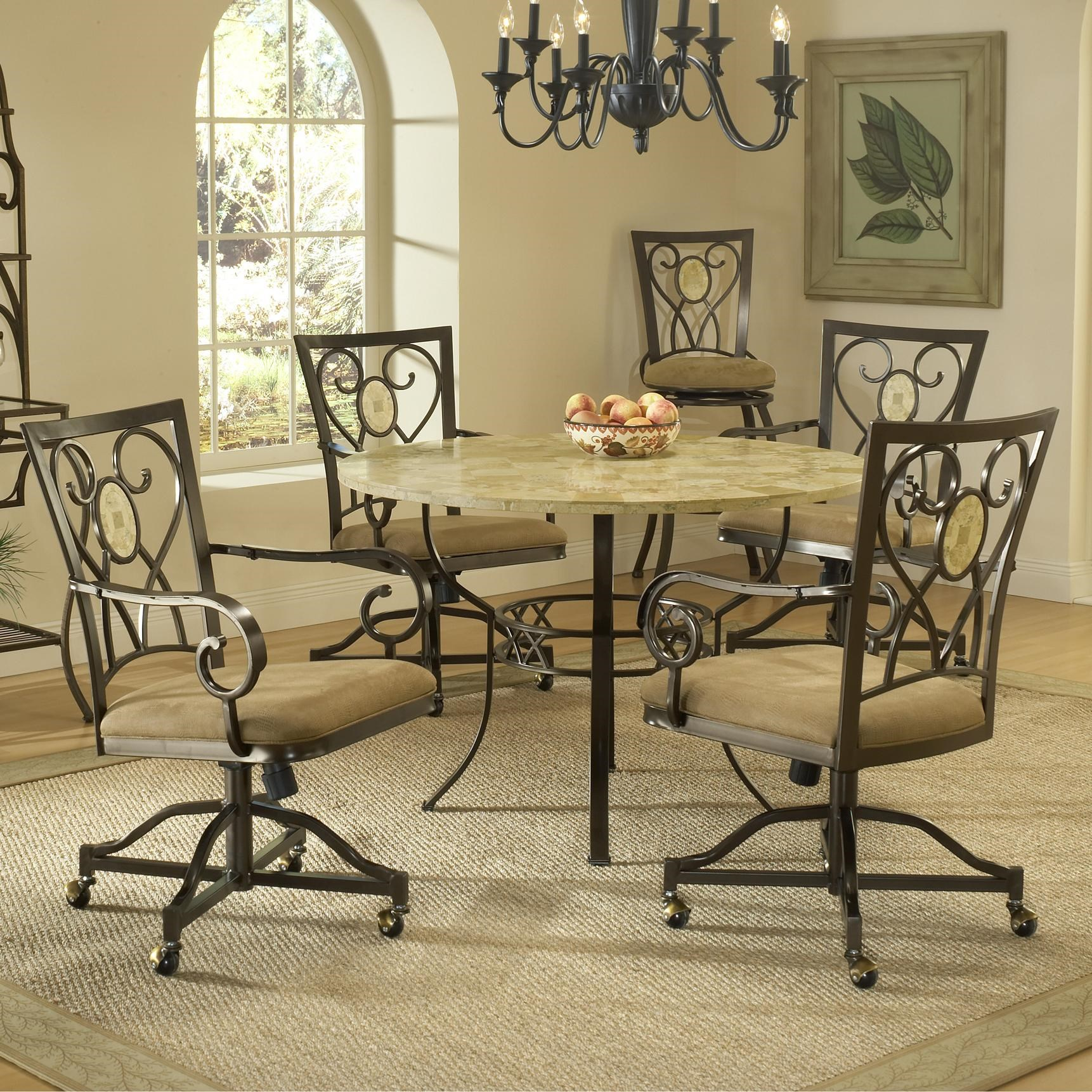 Marvelous Hillsdale BrooksideFive Piece Round Dining Set ...