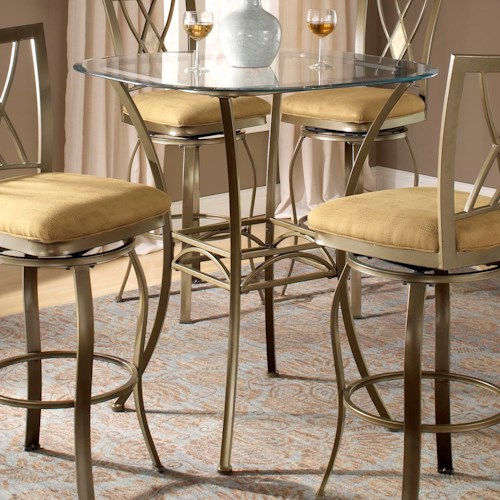 Hillsdale Brookside Bar Height Bistro Table with Splayed Legs