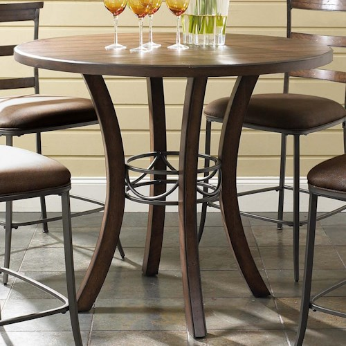 Hillsdale Cameron Round Wood Counter Height Table
