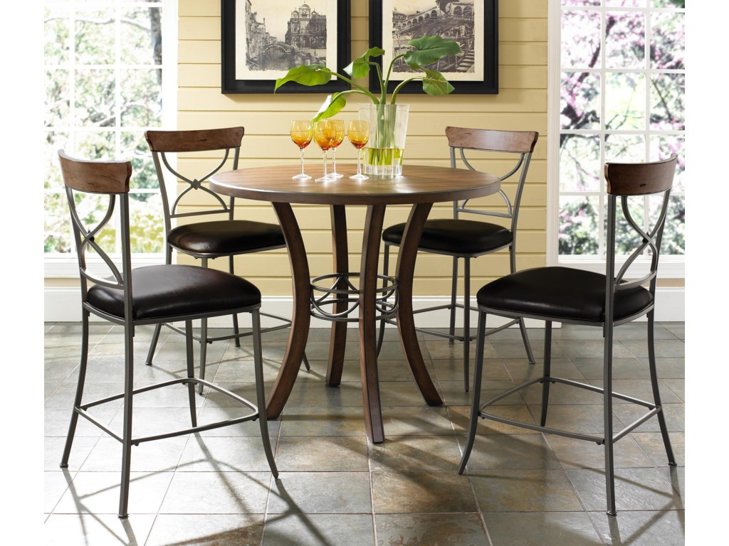 Shown with X-Back Stools