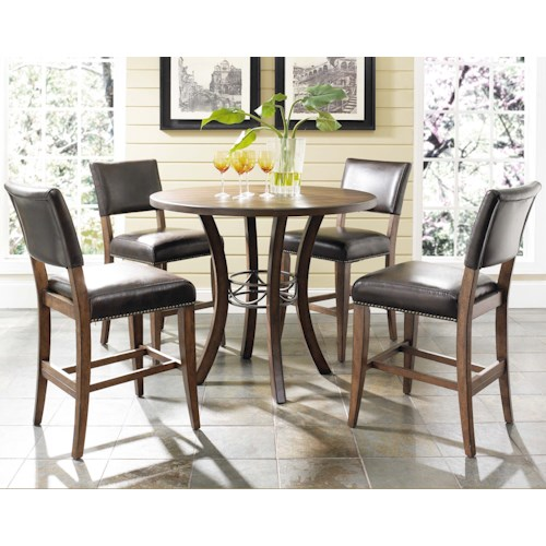 Hillsdale Cameron 5 Piece Counter Height Table & Parson Stools Set