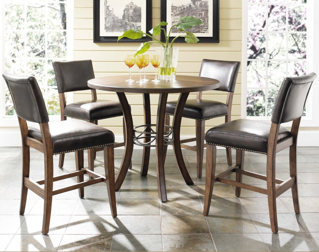 Hillsdale cameron5 piece round counter height table set