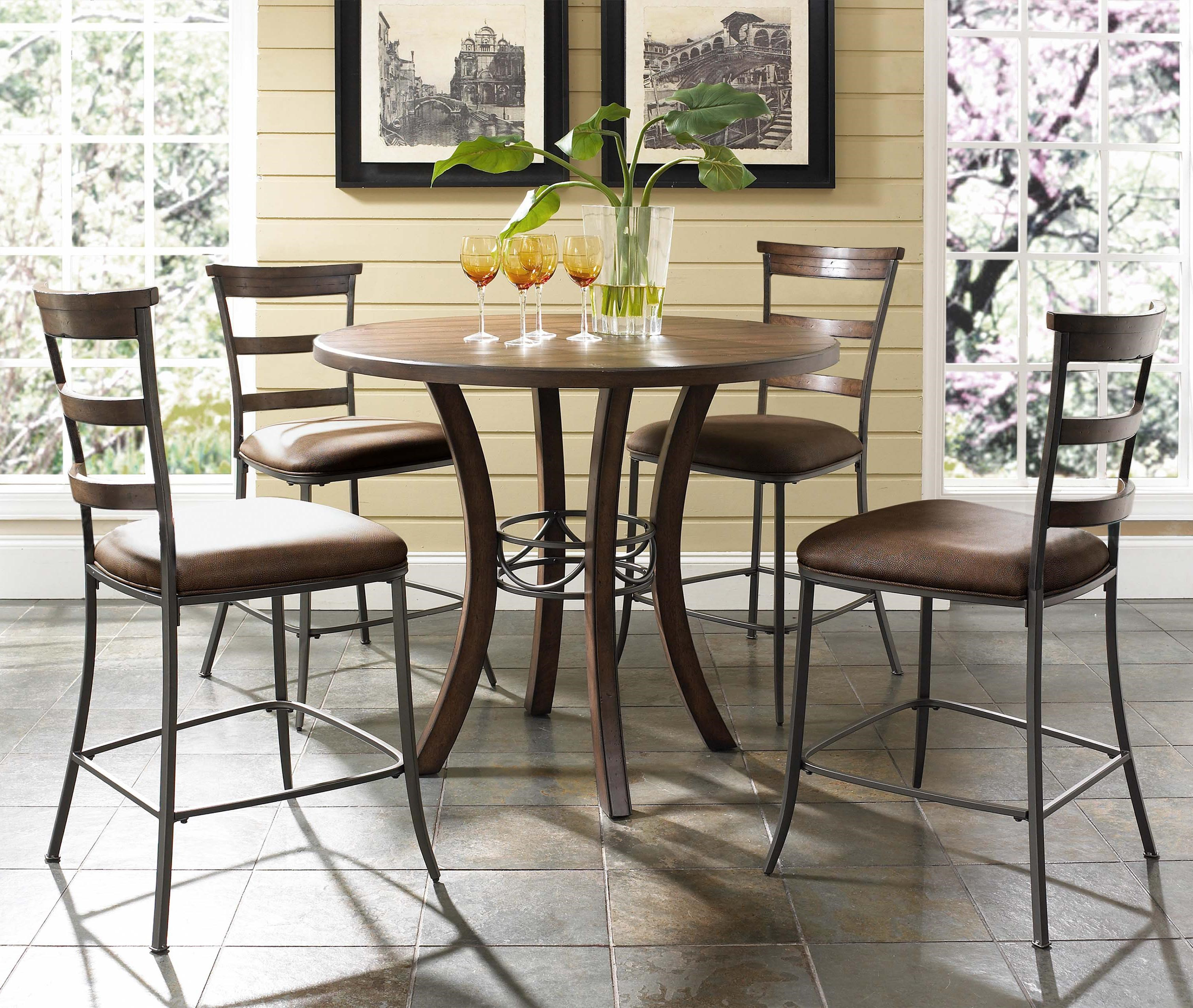 Hillsdale Cameron5 Piece Round Counter Height Dining Set ...