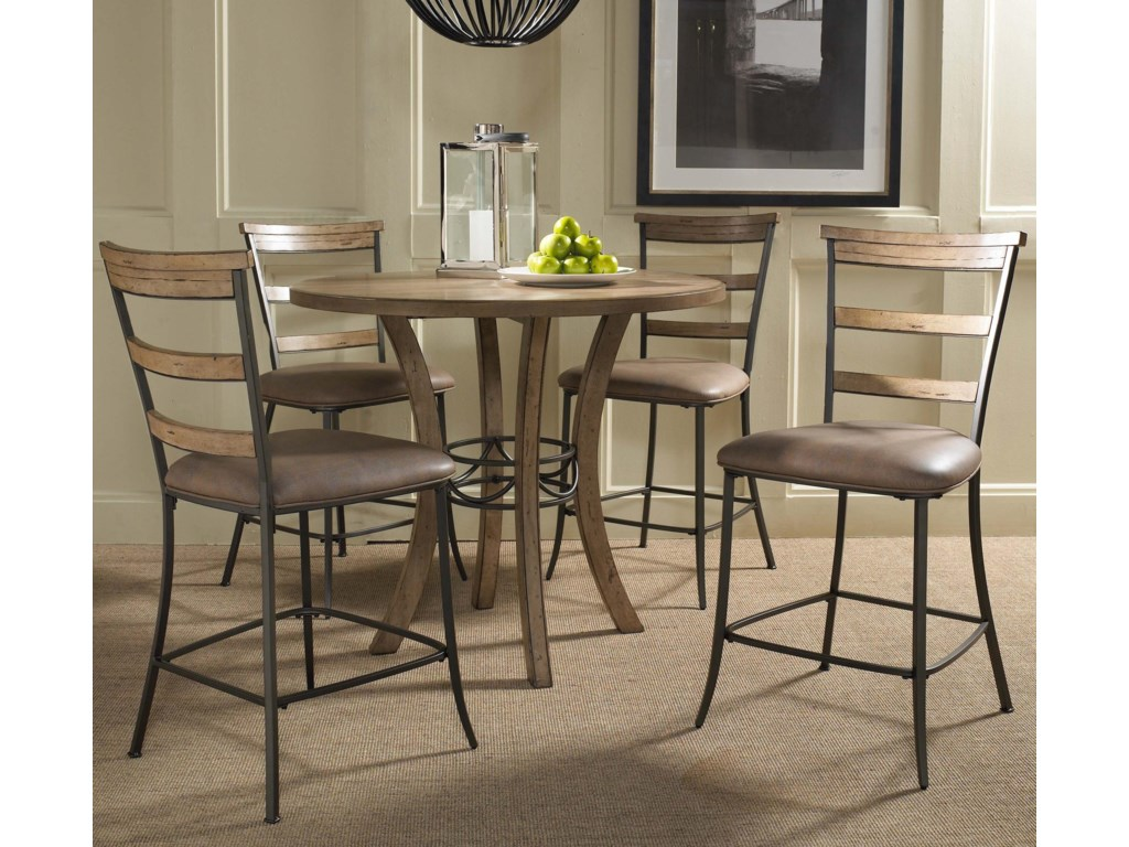 Hillsdale CharlestonLadder Back Non-Swivel Stool