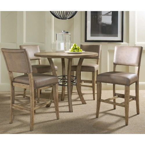 Hillsdale Charleston 5 Piece Pub Table And Chair Set