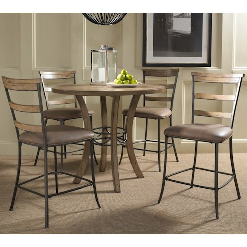 Hillsdale Charleston 5 Piece Pub Table and Stool Set