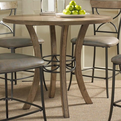 Hillsdale Charleston Round Counter Height Table w/ Wood
