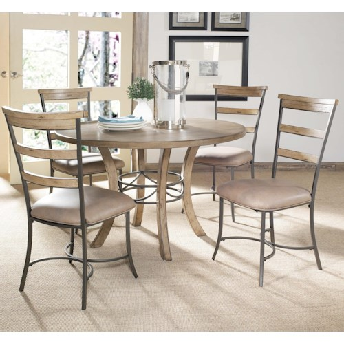 Hillsdale Charleston 5 Piece Dining Table and Side Chair Set