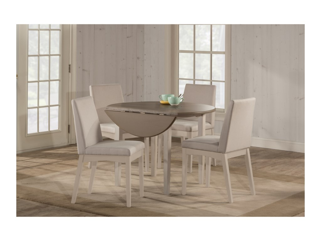 Hillsdale ClarionRound Drop Leaf Dining Table w/ Straight Leg