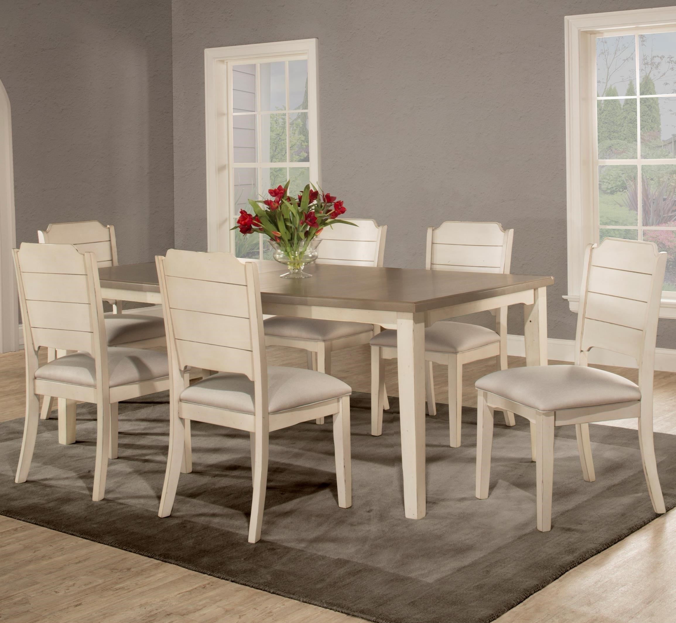 7-Piece Dining Set with Rectangle Table