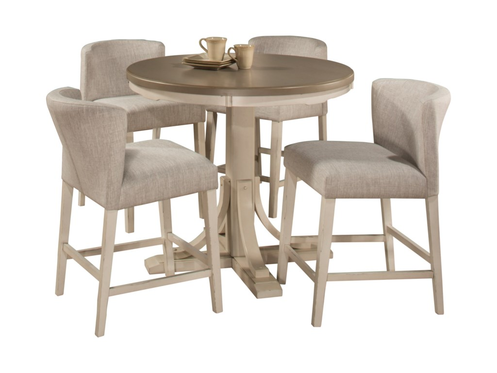 Hillsdale Clarion5-Piece Counter Height Dining Set w/ Wing Ch