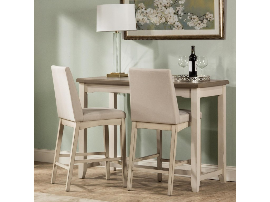 Hillsdale Clarion 3-Piece Counter Height Dining Set with ...