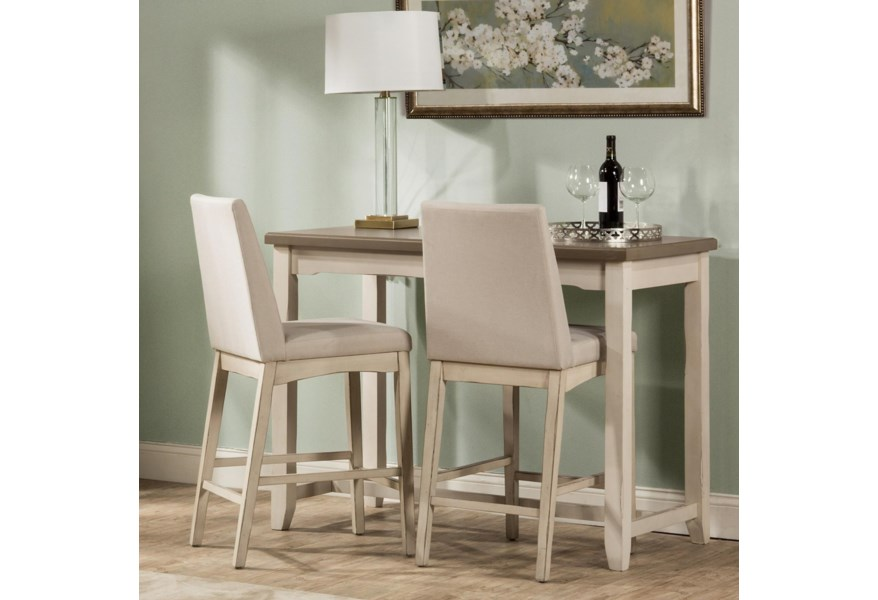 Hilale Clarion 3 Piece Counter Height Dining Set With
