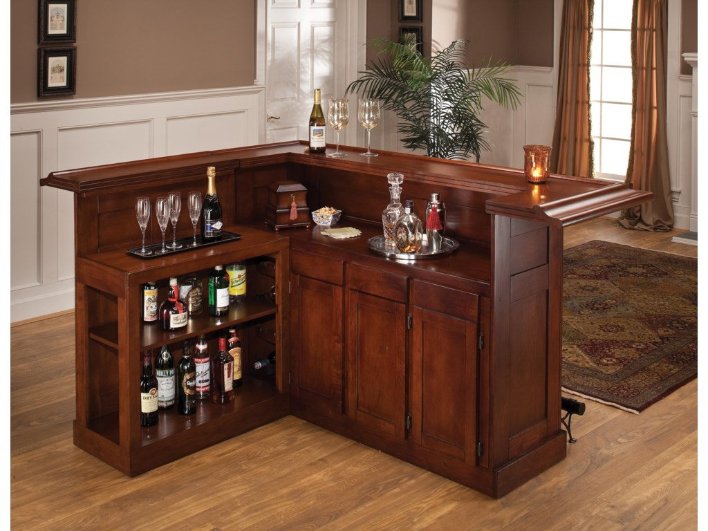 Hillsdale ClassicLarge Cherry Bar with Side Bar