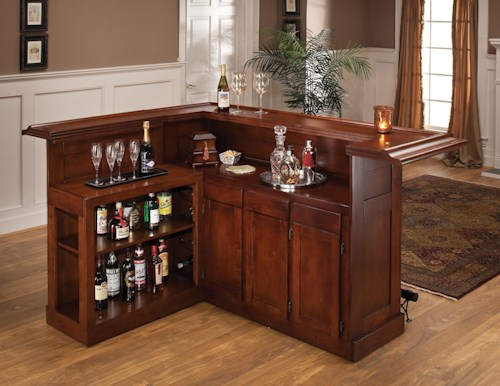 Hillsdale Classic Oak 625 Large Cherry Bar with Side Bar