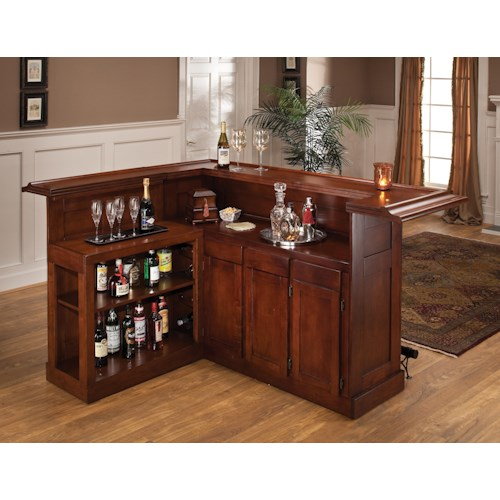Hillsdale Classic Large Cherry Bar with Side Bar
