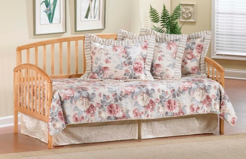 Hillsdale Daybeds Daybed w/Suspension Deck and Roll-Out Trundle - Country Pine