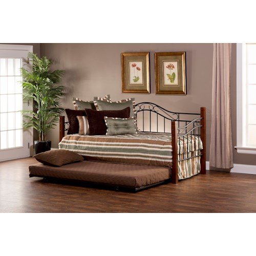Hillsdale Daybeds Matson Daybed with Arched Backboard and Suspension Deck and Trundle