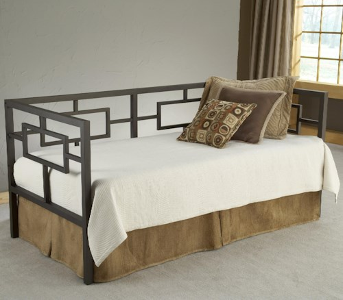 Hillsdale Daybeds Asian-Inspired Daybed with Suspension Deck and Trundle