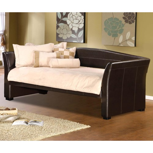 Hillsdale Daybeds Sleigh Daybed with Faux Leather