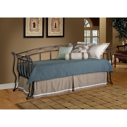 Hillsdale Daybeds Metal Daybed with Suspension Deck and Roll-Out Trundle