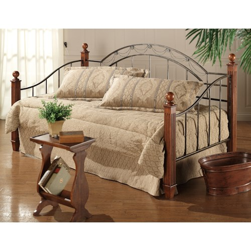 Hillsdale Daybeds Wood Post Daybed With Suspension Deck and Roll-Out Trundle