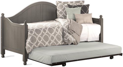 Hillsdale Daybeds Stone Colored Wooden Daybed with Roll-Out Trundle