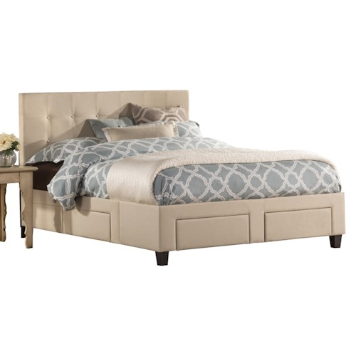 Hillsdale Duggan Upholstered Queen 6 Drawer Storage Bed